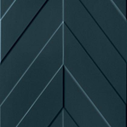 Dlažba Marca Corona 4D Chevron Deep Blue